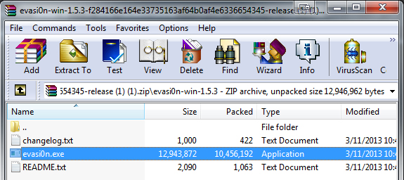 Extract the executable file to your desktop (or wherever is convenient) for later use.